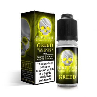 Greed E Liquid by Pure Evil 3mg
