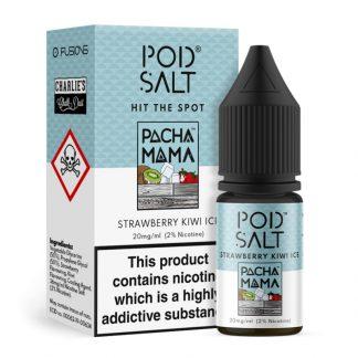 Pod Salt Fusions - Nic Salt - Pacha Mama Strawberry Kiwi Ice [20mg]